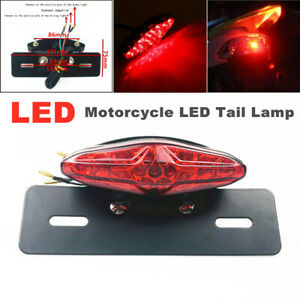 12V Red LED Motorcycle Turn Signal Tail Light Driving Brake License Plate Lamp