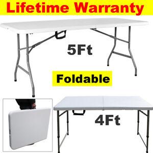Folding Table Heavy Duty Extra Strength Camping Buffet Wedding Market Garden AA+