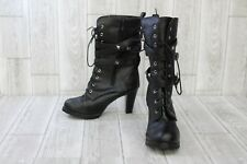 Unbranded High Heeled Lace Up Boots, Women's EU 42, Black