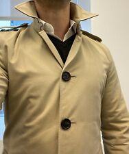 $2100 Burberry Prorsum mac style Trench Coat Rain Jacket Size US 38 EU 48 S/M