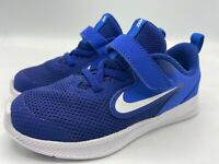 Nike Size 8c Downshifter 9 (GS) Boy's Running Shoes AR4135 400 Deep Royal Blue