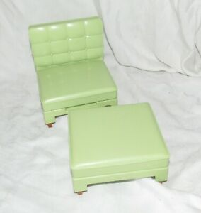 Barbie Totally Real House Replacement Oversize Green Chair Ottoman Convert 2 Bed