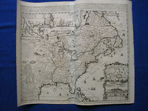 Carte de la Nouvelle France Chatelain America map Atlas Historique 1721