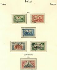 TURKEY 1914 STAMP SELECTION X 6 USED UNCHECKED AND AS RECEIVED