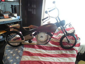 Metal Art Retro Chopper Motorcycle Wall Clock