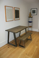 Industrial Table & Bench Reclaimed Timber Rustic Vintage Bespoke Metal Legs .