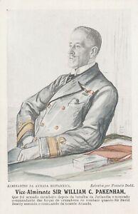 a military royal navy naval postcard english england army vice admiral packenham