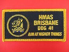 ORIGINAL ROYAL AUSTRALIAN NAVY HMAS BRISBANE DDG 41 PATCH INSIGNIA