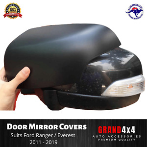 Door Mirror Cover Matte Black to suit Ford Ranger PX PX2 PX3 Everest 2011 - 2019