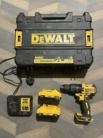 Dewalt 18v XR Cordless Brushless Combi Drill With 2x 3.0ah Batteries + T Stak