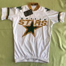 NWT NHL Dallas Stars ZIP Down V Neck Cycle Shirt Size Men XS Club- White