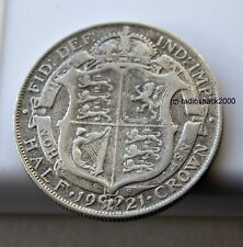 1921 Demi-Couronne King George V Silver Half Crown 50% argent Contenu British UK