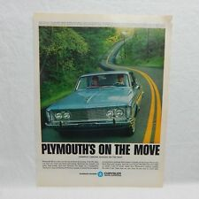 PLYMOUTH 63 CHRYSLER 1963 VINTAGE ADVERTISING MAGAZINE PAGE