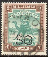1913 Sudan Sg O13 2m green and brown Fine Used