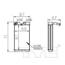 Heater Core 96121 TYC
