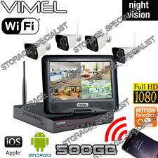 Home Security System Camera 500GB IP Wireless Farm House Remote Monitoring Phone
