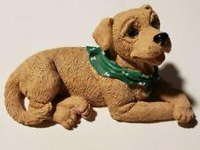 New Listing1994 Enesco Kathy Wise Yellow Labrador Retriever Dog Figurine Green Bandana