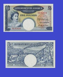 Jamaica 5 pounds 1960 UNC - Reproduction