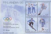Finland #MiBl11 MNH S/S CV€6.00 Skiing FINLANDIA Olympics [933 Mi1236-Mi1239]