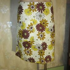 Regular Size Floral Above Knee A-Line Skirts for Women