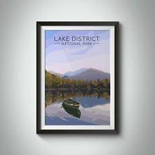 More details for lake district national park travel poster - framed - bucket list prints