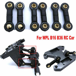 6pcs Rear Axle Seesaw Ball Head Rod Links For WPL B16 B36 RC Car Upgrade Parts