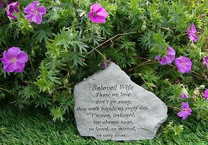 Beloved WIFE Memorial Garden Stone Plaque Grave Marker Ornament churchyard