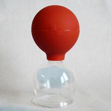 Schröpfglas Schröpfgläser 45 mm mit Saugball zum Feuerlos medizinisch Schröpfen