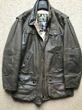 BARBOUR BUSHMAN WAX Giacca Taglia Large rewaxed