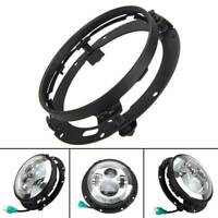 Black Adapter Round For Jeep Wrangler 7 Inch LED Headlight Mounting Ring Bracket