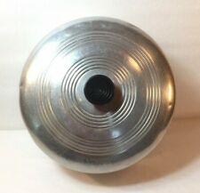 "Vintage Metal Aluminum 10""  Round Cake Dome Black Knob Handle"
