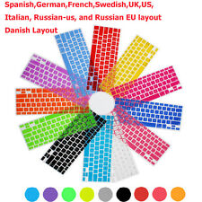 "Keyboard Protector Skin Cover f Macbook Air Pro Retina 13"" 15"" DK Sp UK DE FR US"