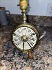 Antique Ship's Telegraph Vintage Lamp A. Tivell & Sons Glasgow Engine Room BRASS