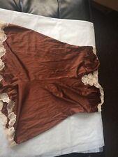"vintage Papillon Paula Carbone satin teddie bodysuit lingerie Medium 36"" bust"