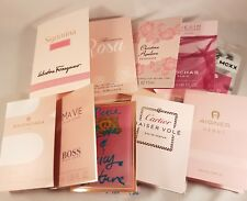 10 mixed ladies pink mini perfumes / wedding favours - Cartier, Boss Ma Vie
