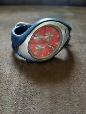 Team Nike Illinois Fighting Illini Sport Watch Orange Face Water Resistant 100m