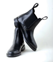 Rhinegold Leather Jodhpur Boots Classic Horse Riding Short Boots  Black or Brown