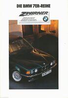 BM2243 BMW 7er Prospekt 1991 brochure prospectus prospetto 1110701101 1/91VM