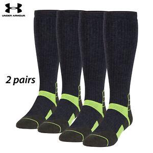 UA Socks: 1-PAIR Sct Ctrl OTC (L) Asphalt