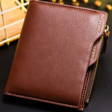 Men's RFID Protected Zipper Wallet Card Holder Coin Purse US