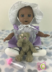Luvabella Doll Baby Interactive A/A Ethnic Girl Talking Movement Accessories Lot
