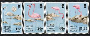 British  Virgin Islands stamps birds, set of 4,  MNH
