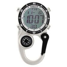 Dakota Watch Company Digi Clip Watch Silver Digital Alarm Timer Stopwatch