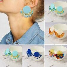 Fashion Round Leopard Geometric Circle Ear Stud Dangle Earring Women Jewelry