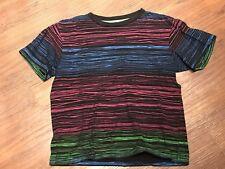 Old Navy Vintage Boys Size 8 M Medium Black Funky And Rad Neon Striped t-shirt