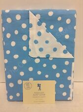Pottery Barn PB Kids Polka Dot Bed Bedroom Dorm Duvet Cover TWIN blue