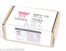 YUASA VALVE REGULATED LEAD ACID BATTERY 12V 7AH NP7-12 NP712 ! NEW !