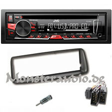 JVC Autoradio PEUGEOT 206 ab Bj. 98 USB CD MP3 Radio + Adapter Blende