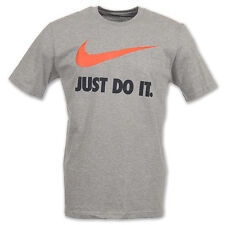 Nike Men's Grey With Black Just Do It Swoosh Short Sleeve T-Shirt 454086 Size L