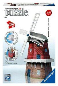 RAVENSBURGER. 3D PUZZLE. WINDMILL  216 PCS. ITEM NR.12563. NEW